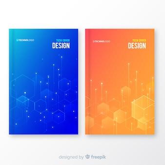 Set de portadas geométricas