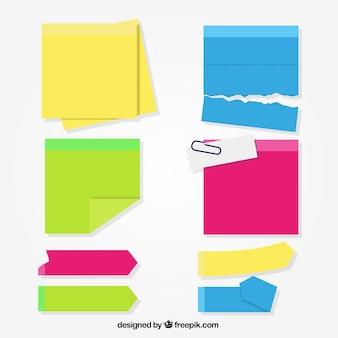 Set de post-its coloridos