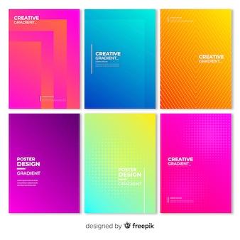 Set de poster geométrico degradado