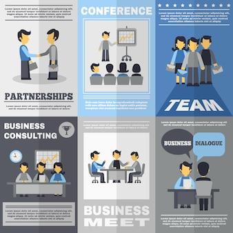 Set de póster para reuniones