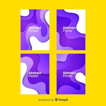 Set de posters con formas fluidas