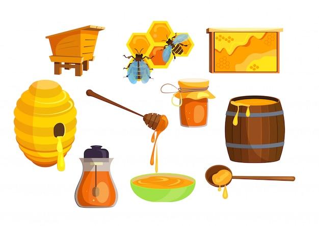 Set de producción de miel.