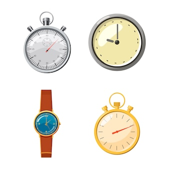 Set de reloj conjunto de dibujos animados de reloj