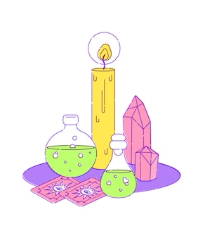 Set para ritual mágico de brujas