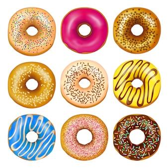 Set de rosquillas realistas
