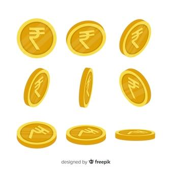 Set de rupias indias