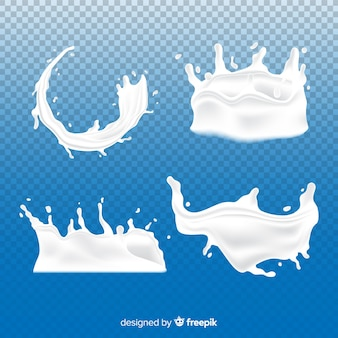 Set de salpicaduras de leche