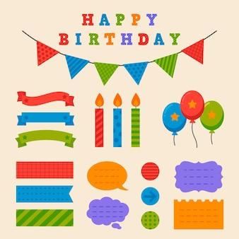 Set de scrapbook de feliz cumpleaños