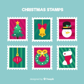 Set de sellos navideños