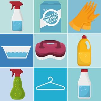 Set de servicio de lavandería