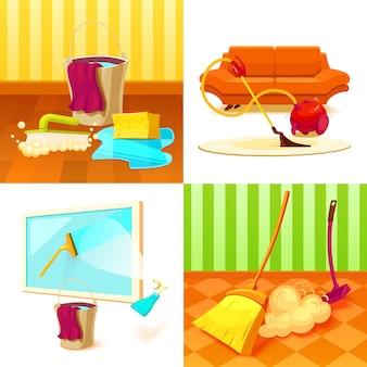 Set de servicio de limpieza