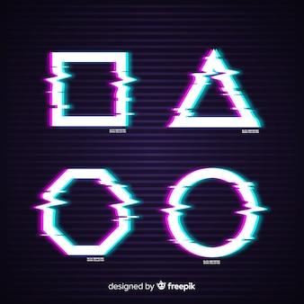 Set de símbolos con efecto glitch