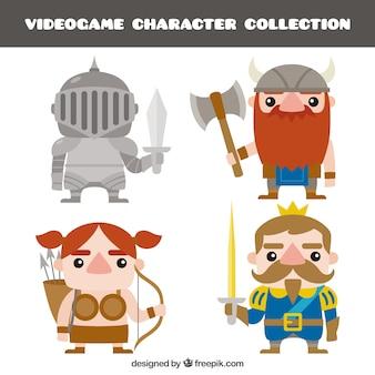 Set de simpáticos personajes de videojuego