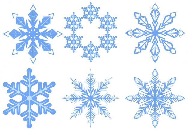 Set snowflake. copo de nieve