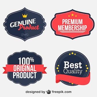 Set de stickers retro para marketing de productos