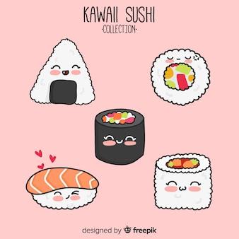 Set de sushi de estilo kawaii