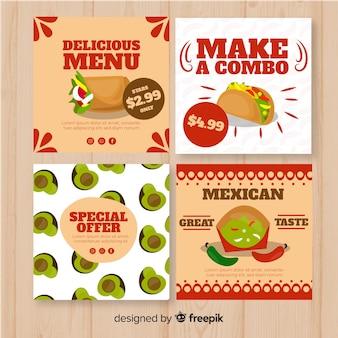 Set de tarjetas con alimentos