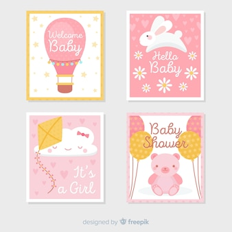 Set de tarjetas de baby shower