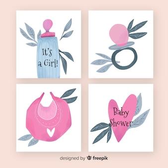 Set de tarjetas de baby shower