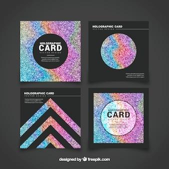 Set de tarjetas de brillantina de colores