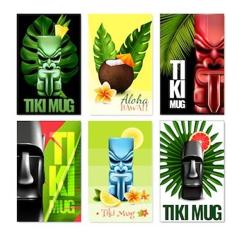 Set de tarjetas hawaianas