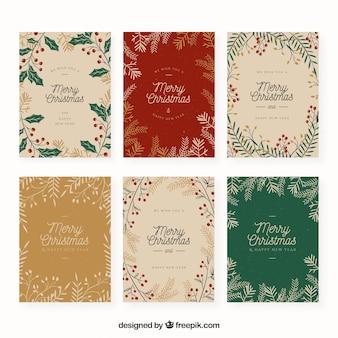 Set de tarjetas de navidad