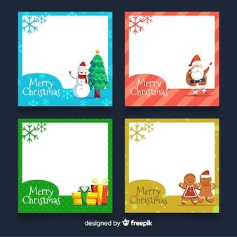 Set de tarjetas navideñas