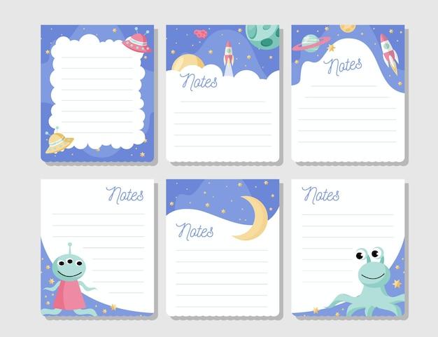 Set de tarjetas y notas para álbumes de recortes