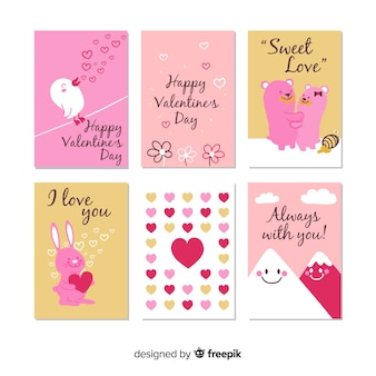 Set tarjetas san valentín monas