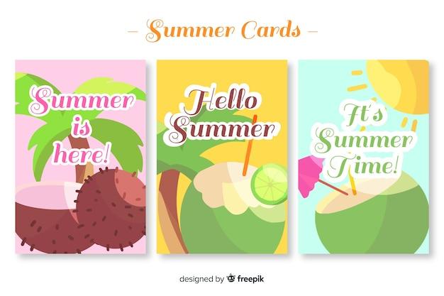 Set de tarjetas veraniegas