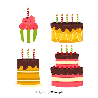 Set tarta cumpleaños