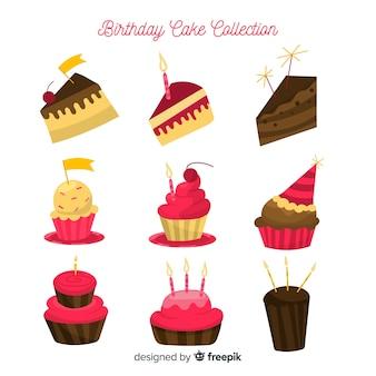 Set de tartas de cumpleaños
