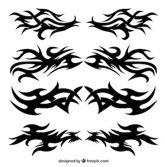 Set de tatuajes de tribales