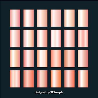 Set texturas oro rosa