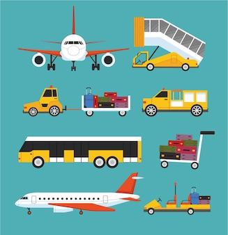 Set de transporte aeropuerto
