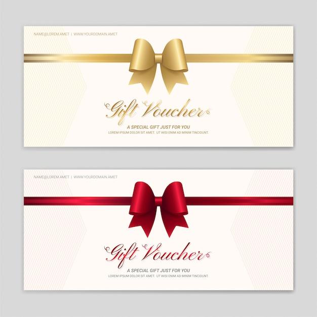 Set de vales de regalo