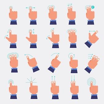 Set vector de mano y dedo