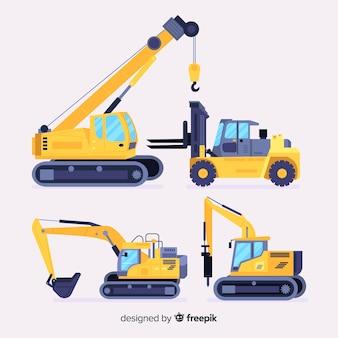 Set de vehículos de la construcción