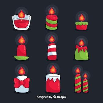 Set de velas de navidad