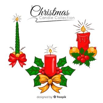 Set de velas navideñas