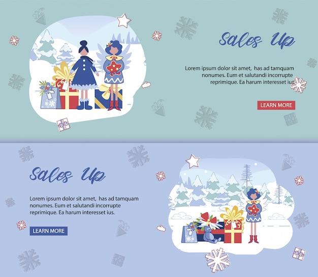 Set de ventas navideñas. plantillas