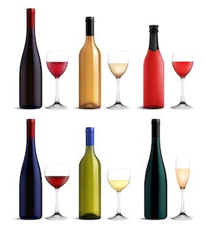 Set de vino y copa