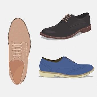 Set de zapatos elegantes