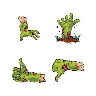 Set de zombie de mano