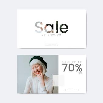 Setenta por ciento de descuento en venta