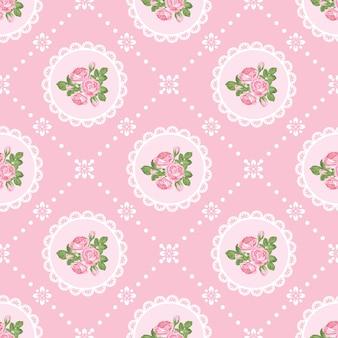 Shabby chic rosa de fondo transparente