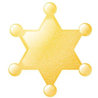 Sheriff estrella dorada con una textura grunge. ilustración vectorial de stock