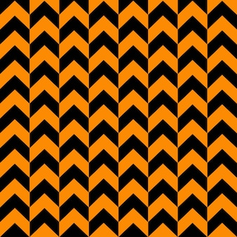 Shevron monocromo de patrones sin fisuras en colores negro y naranja elegantes formas geométricas en zigzag