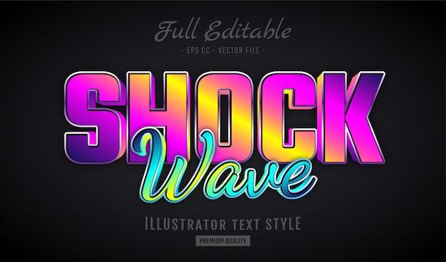 Shock wave gradient efecto de texto en 3d premium