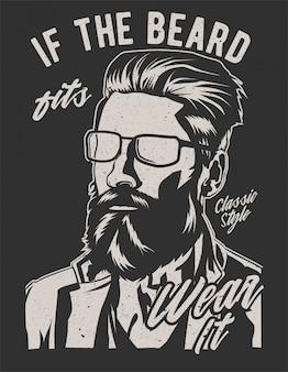 Si la barba le queda bien
